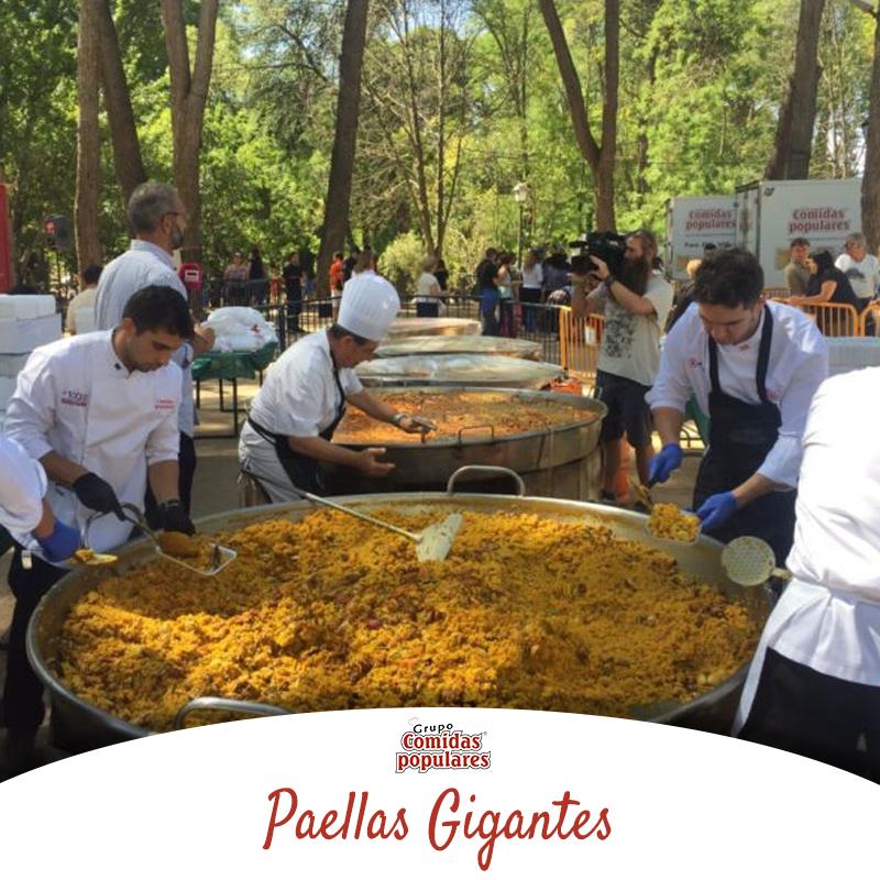 Catering Comidas Populares empresa experta en realización de paellas gigantes en Madrid